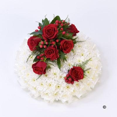 Red and White Posy *