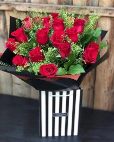 Large Heavenly Red Rose Hand tied.