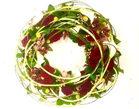 Woodland wreath design