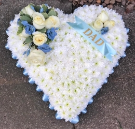 Sky blue heart with dad sash